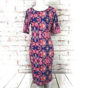 LuLaRoe Dresses - Lularoe Julia Dress Size Large Short Sleeve Floral 16527c4e9
